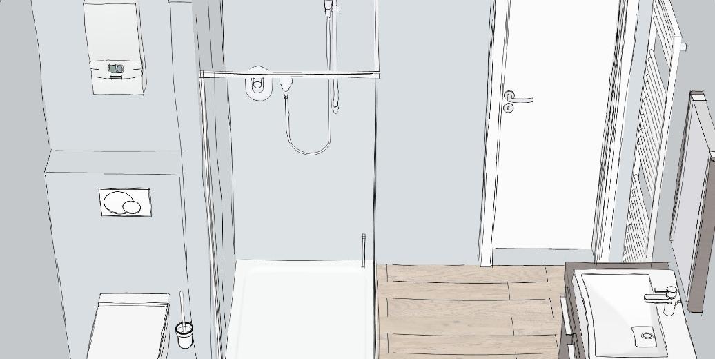 Badezimmer Skizze